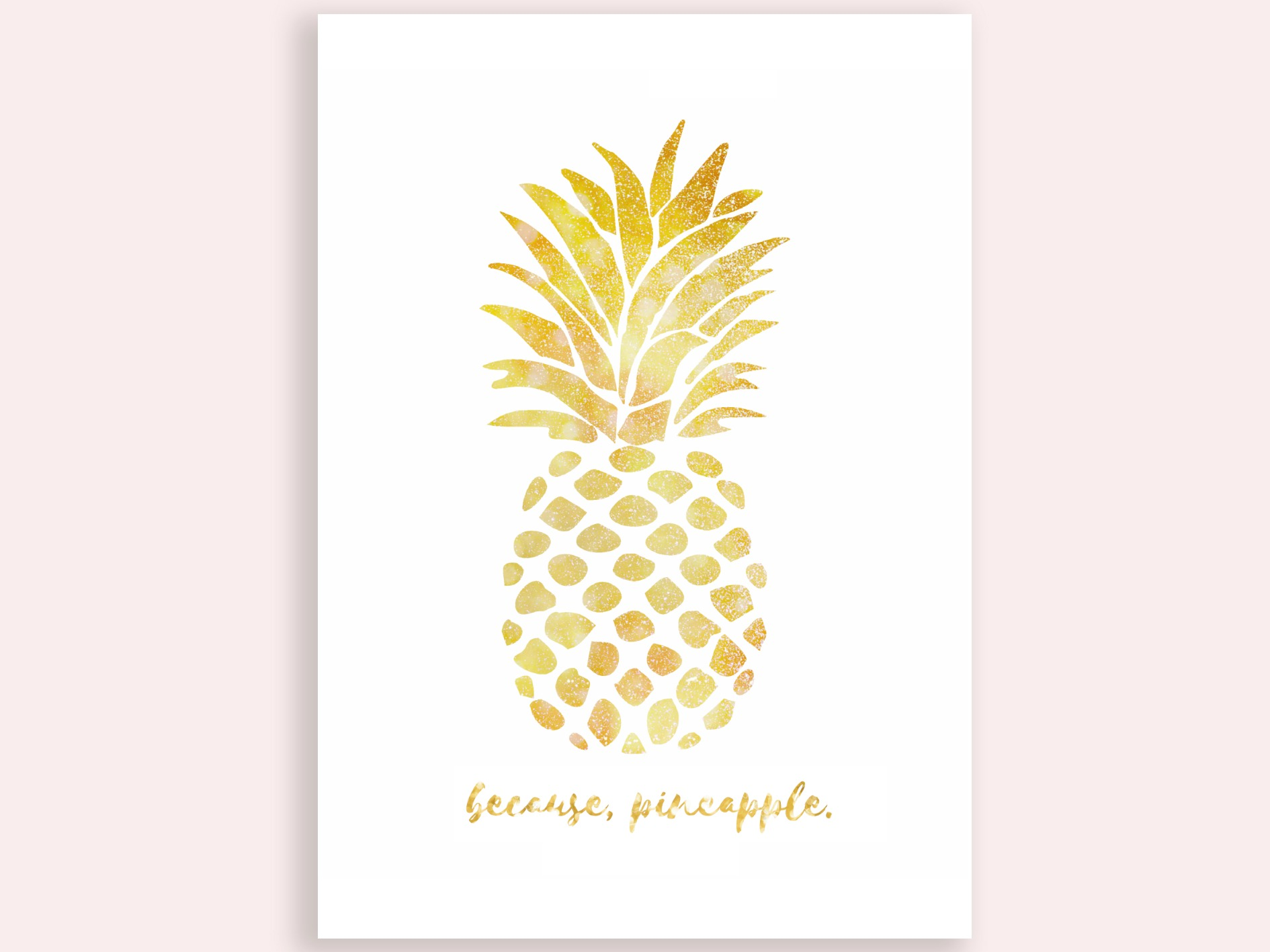 picture relating to Free Printable Pineapple identified as Gold Pineapple Artwork Free of charge Printables! - Establishing Stunning